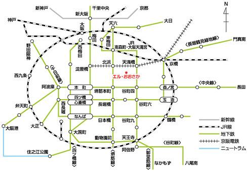 大阪産業保健総合支援センター地図